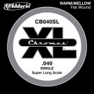D'Addario CB040SL Chromes Bass Guitar Single String Super Long Scale .040