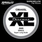 D'Addario CB045SL Chromes Bass Guitar Single String Super Long Scale .045