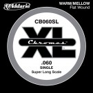D'Addario CB060SL Chromes Bass Guitar Single String Super Long Scale .060