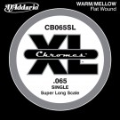D'Addario CB065SL Chromes Bass Guitar Single String Super Long Scale .065