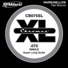 D'Addario CB075SL Chromes Bass Guitar Single String Super Long Scale .075