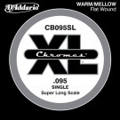 D'Addario CB095SL Chromes Bass Guitar Single String Super Long Scale .095