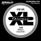 D'Addario CB100 Chromes Bass Guitar Single String Long Scale .100