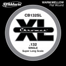 D'Addario CB132SL Chromes Bass Guitar Single String Super Long Scale .132