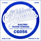 D'Addario CG056 Flat Wound Electric Guitar Single String .056