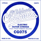 D'Addario CG075 Flat Wound Electric Guitar Single String .075