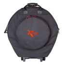"Xtreme  DA584W 22"" Cymbal Bag with Wheels and Retractable pull along handle."