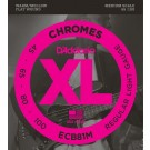 D'Addario ECB81M Chromes Bass Guitar Strings Light 45-100 Medium Scale