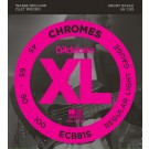 D'Addario ECB81S Chromes Bass Guitar Strings Light 45-100 Short Scale