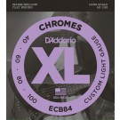 D'Addario ECB84 Chromes Bass Guitar Strings Custom Light 40-100 Long Scale