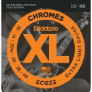 D'Addario ECG23 Chromes Flat Wound Electric Guitar Strings Extra Light 10-48