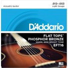 D'Addario EFT16 Flat Tops Phosphor Bronze Acoustic Guitar Strings Light 12-53