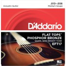 D'Addario EFT17 Flat Tops Phosphor Bronze Acoustic Guitar Strings 13-56