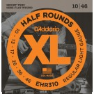 D'Addario EHR310 Half Round Electric Guitar Strings Regular Light 10-46