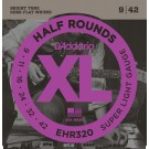 D'Addario EHR320 Half Round Electric Guitar Strings Super Light 9-42