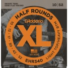 D'Addario EHR340 Half Round Electric Guitar Strings Light Top/Heavy Bottom 10-52