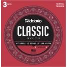 D'Addario EJ27N Student Nylon Classical Guitar Strings Normal Tension 3 Sets