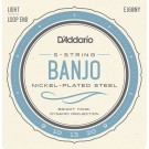 D'Addario EJ60NY 5-String Banjo Strings NY Steel Light 9-20