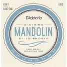 D'Addario EJ62 80/20 Bronze Mandolin Strings Light 10-34