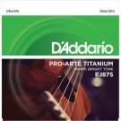 D'Addario EJ87S Titanium Ukulele Strings Soprano