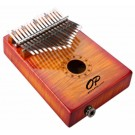 Opus Percussion 17-Key Curly Maple Kalimba with Pickup in Sunburst Gloss