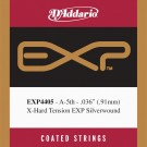 D'Addario EXP4405 Coated Classical  Guitar Single String Extra-Hard Tension Fifth String