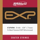 D'Addario EXP4504 Coated Classical  Guitar Single String Normal Tension Fourth String
