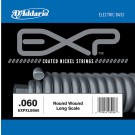 D'Addario EXPXLB060 EXP Coated Nickel Round Wound Bass Guitar Single String .060