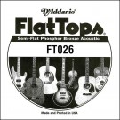 D'Addario FT026 Semi-Flat Phosphor Bronze Acoustic Guitar Single String .026