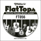 D'Addario FT056 Semi-Flat Phosphor Bronze Acoustic Guitar Single String .056