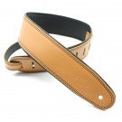"DSL Straps - GEP25-18-1 2.5"" Rolled Edge Tan/Black Guitar Strap"