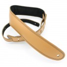 "DSL Straps - GES25-18-1 2.5"" Padded Suede Tan/Black Guitar Strap"