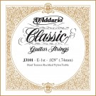 D'Addario J3101 Rectified Classical Guitar Single String Hard Tension First String