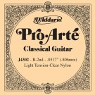D'Addario J4302 Pro-Arte Nylon Classical Guitar Single String Light Tension Second String