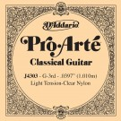 D'Addario J4303 Pro-Arte Nylon Classical Guitar Single String Light Tension Third String