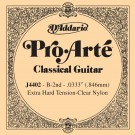 D'Addario J4402 Pro-Arte Nylon Classical Guitar Single String Extra-Hard Tension Second String