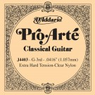 D'Addario J4403 Pro-Arte Nylon Classical Guitar Single String Extra-Hard Tension Third String