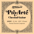 D'Addario J4503C Pro-Arte Composite Classical Guitar Single String Normal Tension Third String