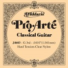 D'Addario J4603 Pro-Arte Nylon Classical Guitar Single String Hard Tension Third String