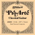 D'Addario J4604C Pro-Arte Nylon Classical Guitar Single String Hard Tension Fourth String