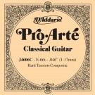 D'Addario J4606C Pro-Arte Nylon Classical Guitar Single String Hard Tension Sixth String