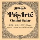 D'Addario J4705 80/20 Bronze Pro-Arte Nylon Classical Guitar Single String Normal Tension Fifth String