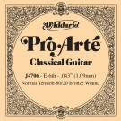 D'Addario J4706 80/20 Bronze Pro-Arte Nylon Classical Guitar Single String Normal Tension Sixth String