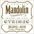 D'Addario J6201 Plain Steel Mandolin Single String .010