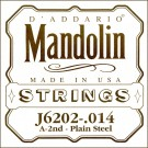 D'Addario J6202 Plain Steel Mandolin Single String .011