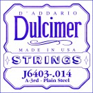 D'Addario J6403 Plain Steel Dulcimer Single String .014