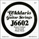 D'Addario J6602 Plain Steel Tenor Guitar Single String .012