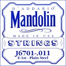 D'Addario J6701 Nickel Mandolin Single String .011