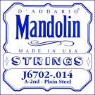 D'Addario J6702 Nickel Mandolin Single String .014