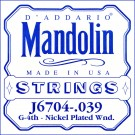 D'Addario J6704 Nickel Mandolin Single String .039